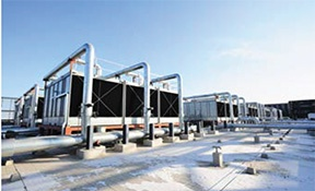 Evaporative cooling towers are an integral part of many data center cooling systems, depending on their location.